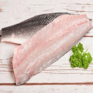 Fresh Sea Bass Fillet Skin-On (Chilled) available online at Vegberry in Dubai, UAE