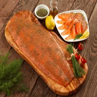 Fresh Smoked Salmon Sliced Dill Marinated available online at Vegberry in Dubai, UAE