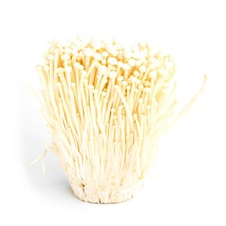 Fresh White Enoki Mushroom available online at Vegberry in Dubai, UAE